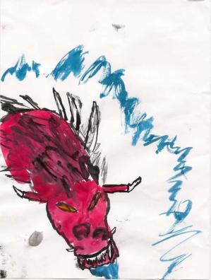 23 dragon peint