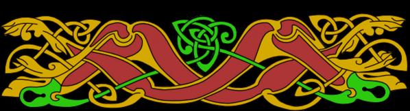 Armanel, conteur celte, entrelac celtique ROV1